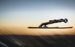 29.09.2018, Energie AG Skisprung Arena, Hinzenbach, AUT, FIS Ski Sprung, Sommer Grand Prix, Hinzenbach, im Bild Daniel Huber (AUT) // Daniel Huber of Austria during FIS Ski Jumping Summer Grand Prix at the Energie AG Skisprung Arena, Hinzenbach, Austria on 2018/09/29. EXPA Pictures © 2018, PhotoCredit: EXPA/ JFK