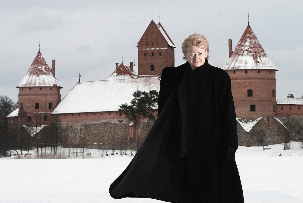 USE ARROWS on your keyboard to navigate this slide show <br /> <br /> Trakai , Lithuania 2004<br /> Dalia Grybauskaite, Lithuania's president<br /> Photo: Ezequiel Scagnetti
