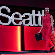 Tall Order TEDx Seattle 2018. Anastacia-Renee (poet). Photo by Alabastro Photography.