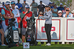 August 23, 2018 - Regina, SK, U.S. - REGINA, SK - AUGUST 23: Lydia Ko (NZL) and Lexi Thompson (USA) share a laugh on the tee on 12 during the CP Women's Open Round 1 at Wascana Country Club on August 23, 2018 in Regina, SK, Canada. (Photo by Ken Murray/Icon Sportswire) (Credit Image: © Ken Murray/Icon SMI via ZUMA Press)