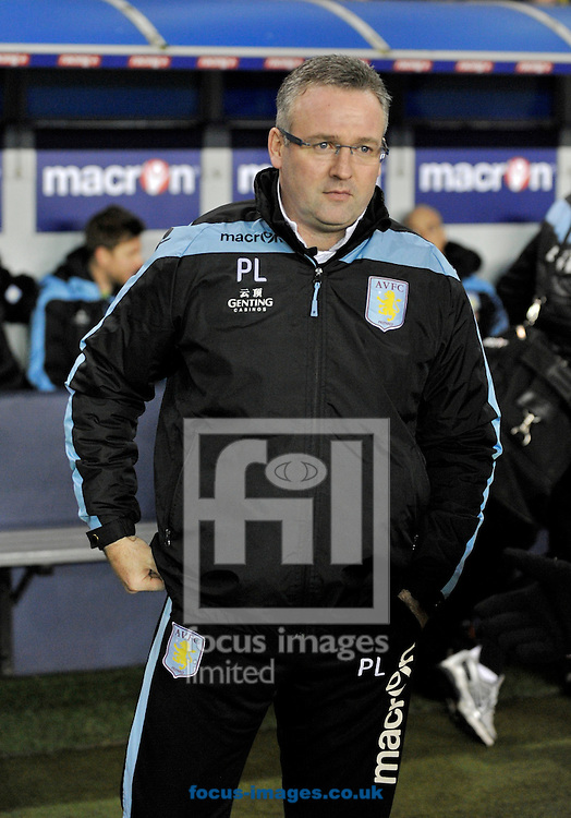 Picture by Alan Stanford/Focus Images Ltd +44 7915 056117.25/01/2013.Paul Lambert manager of Aston Villa during the The FA Cup match at The Den, London.