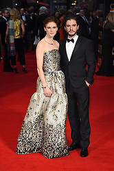 Rose Leslie and Kit Harington attending the Olivier Awards, at the Royal Opera House in London.