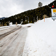 Teton Pass road closure due to high winds and avalanche danger.