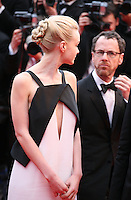 Actress Carey Mulligan and Director Ethan Coen at the The Coen brother's new film 'Inside Llewyn Davis' red carpet gala screening at the Cannes Film Festival Sunday 19th May 2013