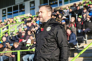 Forest Green Rovers assistant manager, Scott Lindsey during the The FA Cup match between Forest Green Rovers and Macclesfield Town at the New Lawn, Forest Green, United Kingdom on 4 November 2017. Photo by Shane Healey.