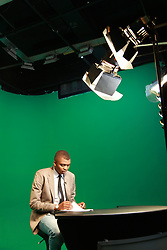 BTS During the Filming of Late Night News at Realtime Pictures Studio in Linden Johannesburg, South Africa Oval, on the 4th of August 2016<br /> <br /> Photo by: Jurgen Marx/RealTime Images