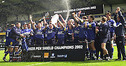 26/05/2002.Sport -Rugby Union - Parker Pen Shield Final.Sale vs Pontypridd.. Sale celebration    [Mandatory Credit, Peter Spurier/ Intersport Images].