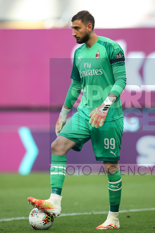 AC Milan's Italian goalkeeper Gianluigi Donnarumma during the Serie A match at Giuseppe Meazza, Milan. Picture date: 28th June 2020. Picture credit should read: Jonathan Moscrop/Sportimage