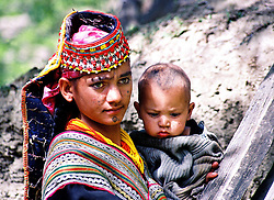 Pakistan, Northwest Frontier Province, 2004. The matriarchal Kalash are one of the smallest remaining ethnic groups in Pakistan, numbering less than 5,000 in three main NWFP villages.
