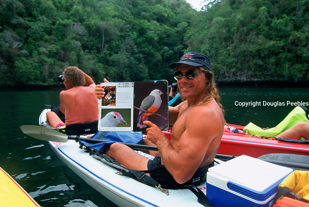 Kayaking, Rock Islands, Palau, Micronesia,(no model release, editorial use only)<br />