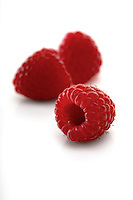 Raspberries backbround - close-up