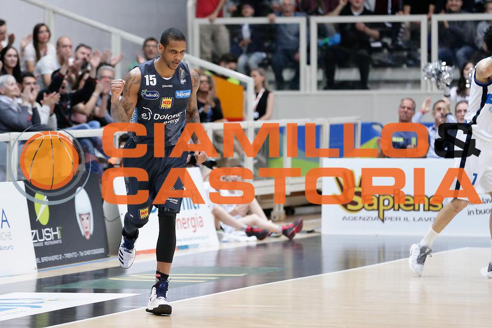 Joao Beto Gomes<br /> Dolomiti Energia Aquila Basket Trento - Germani Basket Brescia Leonessa<br /> Lega Basket Serie A 2016/2017<br /> PalaTrento, 23/04/2017<br /> Foto Ciamillo-Castoria / M. Brondi