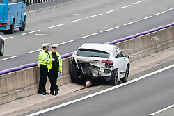 South Yorkshire Police closed the M1 South Bound at Junction 35 after a collision  between a black VW golf and a white Citeron DS4 on Saturday 12 March 2016. The driver of the Back golf a 56 year old man from Barnsley was airlifted to hospital but died later.<br />