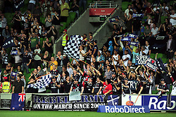 Rebels fans / Rebel Army.Melbourne Rebels v The Sharks.Rugby Union - 2011 Super Rugby.AAMI Park, Melbourne VIC Australia.Friday, 11 March 2011.© Sport the library / Jeff Crow