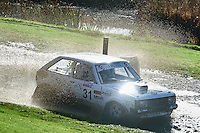 #31 Mike Taylor / Martin Haggett Talbot Sunbeam - Lotus Oxford MC, BLMCC / BLMCC Kingsway Insurance and Lotusbitsduring Neil Howard Memorial Stage Rally, and opening round of the 2015 Motorsport News Rally Championship.  at Oulton Park, Little Budworth, Cheshire, United Kingdom. November 07 2015. World Copyright Peter Taylor. Copy of publication required for printed pictures.  Every used picture is fee-liable. http://archive.petertaylor-photographic.co.uk