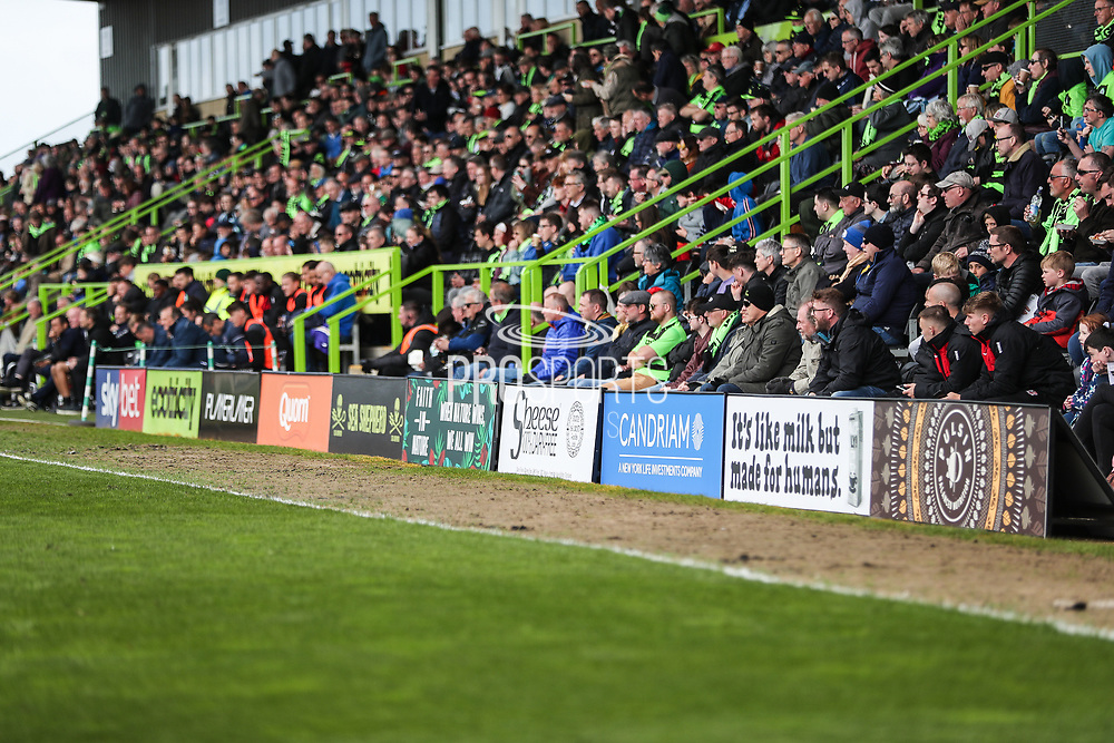 A boards during the EFL Sky Bet League 2 match between Forest Green Rovers and Exeter City at the New Lawn, Forest Green, United Kingdom on 4 May 2019.