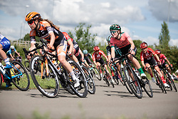 Demi Vollering (NED) of Parkhotel Valkenburg Cycling Team leans into a corner on Stage 2 of 2019 OVO Women's Tour, a 62.5 km road race starting and finishing in the Kent Cyclopark in Gravesend, United Kingdom on June 11, 2019. Photo by Balint Hamvas/velofocus.com