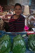 Betel leaf, from Areca palm (Areca catechu)<br /> Barabazar market, Shillong<br /> Meghalaya,  ne India