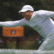 Hugh Thomson, USA, in action in the 60 Mens Singles  during the 2009 ITF Super-Seniors World Team and Individual Championships at Perth, Western Australia, between 2-15th November, 2009.