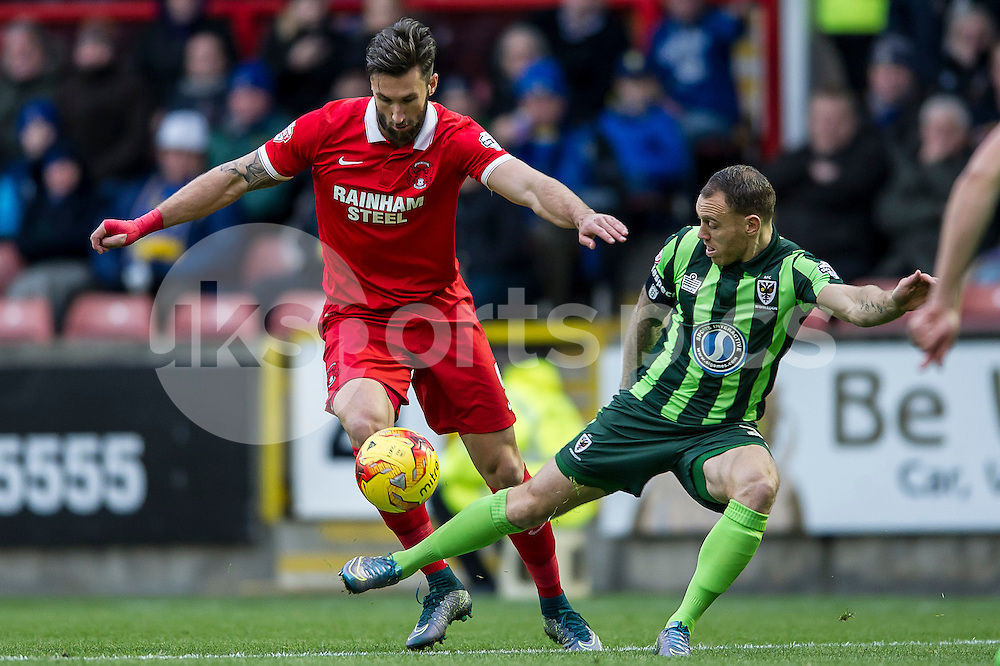 Ollie Palmer of Leyton Orient in action during the Sky Bet League 2 match between Leyton Orient and AFC Wimbledon at the Matchroom Stadium, London, England on 28 November 2015. Photo by Salvio Calabrese.