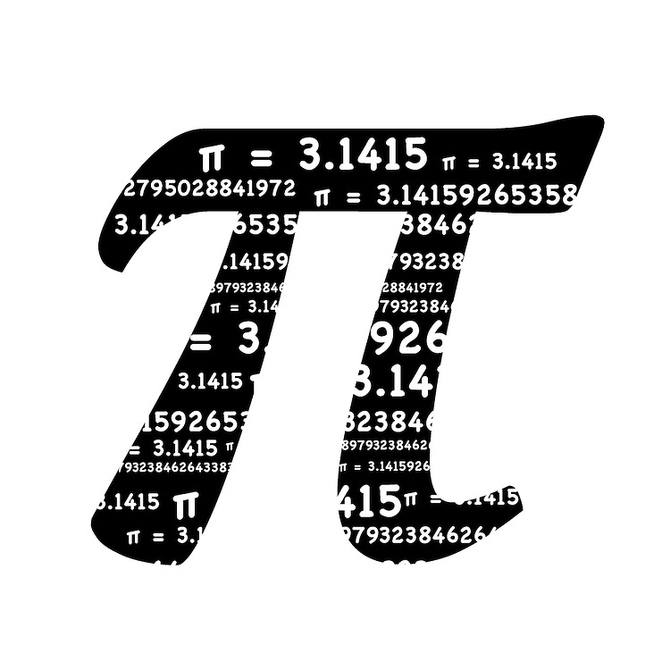 Pi Symbol With The Sum Formula Pi Equals 31415 Inside The Pi Symbol