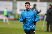 Forest Green Rovers Omar Bugiel(11) warming up during the Vanarama National League match between Forest Green Rovers and Boreham Wood at the New Lawn, Forest Green, United Kingdom on 11 February 2017. Photo by Shane Healey.