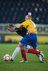 Falkirk's Craig Sibbald and Cowdenbeath's player/manager Colin Cameron..Falkirk 2 v 0 Cowdenbeath, 15/12/2012..©Michael Schofield.