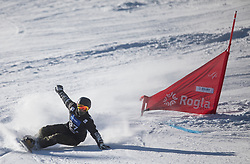 Gardner Darren during the men's Snowboard giant slalom of the FIS Snowboard World Cup 2017/18 in Rogla, Slovenia, on January 21, 2018. Photo by Urban Meglic / Sportida