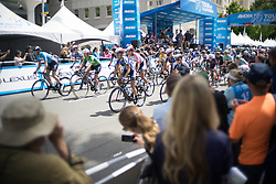 Moments after the start of the fourth, 70 km road race stage of the Amgen Tour of California - a stage race in California, United States on May 22, 2016 in Sacramento, CA.