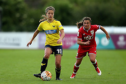 Ella Franklin-Fraiture of Oxford United is chased down by Jodie Brett of Bristol City Women - Mandatory by-line: Robbie Stephenson/JMP - 25/06/2016 - FOOTBALL - Stoke Gifford Stadium - Bristol, England - Bristol City Women v Oxford United Women - FA Women's Super League 2