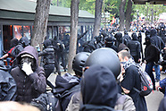 May day 2018 - Violence of the left group Black Block - Paris
