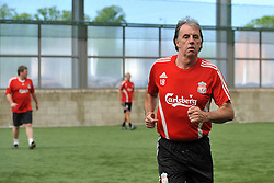 LIVERPOOL, ENGLAND - Tuesday, May 12, 2009: Ex-Liverpool player Mark Lawrenson during a training session at Melwood as the players prepare for the Hillsborough Memorial Game in aid of the Marina Dalglish Appeal which will be staged at Anfield on May 14. (Photo by Dave Kendall/Propaganda)