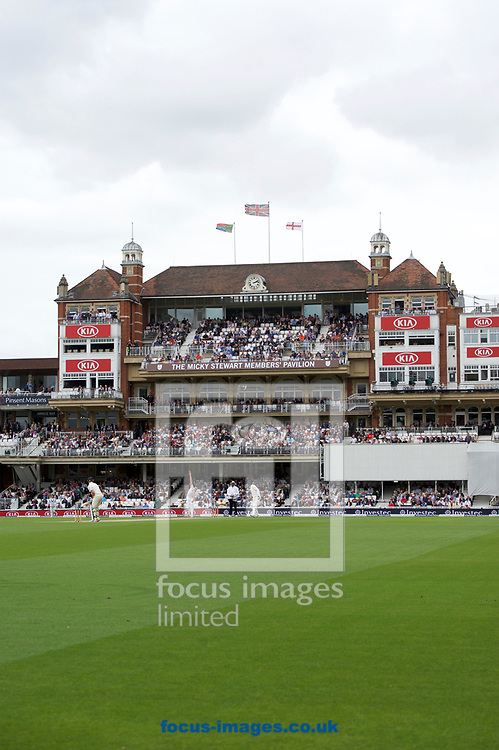 A stiff wind blows the flags during the 100th Investec Test Match match at the Kia Oval, London<br /> Picture by Alan Stanford/Focus Images Ltd +44 7915 056117<br /> 28/07/2017