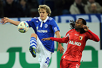 v.l. Teemu Pukki, Lorenzo Davids (Augsburg)<br /> Bundesliga, FC Schalke 04 - FC Augsburg 3:1<br /> <br /> Norway only