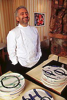 Chef Guy Savoy in his Paris Restaurant