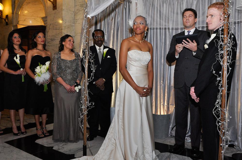 Uzoezi & Noam's wedding ceremony, Merchant's Exchange, San Francisco