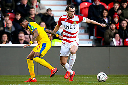 John Marquis of Doncaster Rovers goes past Patrick van Aanholt of Crystal Palace - Mandatory by-line: Robbie Stephenson/JMP - 17/02/2019 - FOOTBALL - The Keepmoat Stadium - Doncaster, England - Doncaster Rovers v Crystal Palace - Emirates FA Cup fifth round proper