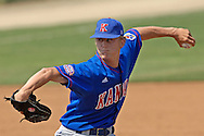 Kansas pitcher Andy Marks pitched one inning, giving up one run on two hits against Kansas State.  The Wildcats held on to beat Kansas 5-4 at Tointon Stadium in Manhattan, Kansas, April 23, 2006.