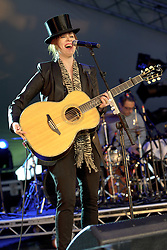 Image ©Licensed to i-Images Picture Agency. 04/07/2014. Oxford, United Kingdom. Cornbury Festival. Suzanne Vega performs at Cornbury Music Festival. Picture by i-Images