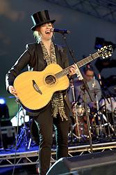 Image ©Licensed to i-Images Picture Agency. 04/07/2014. Oxford, United Kingdom. Cornbury Festival. Suzanne Vega performs at Cornbury Music Festival. Picture by i-Images