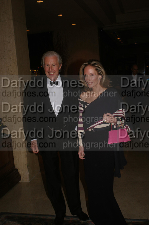 Mr. and Mrs. Martin Summers. Conde Nast Traveller Tsunami Appeal dinner. Four Seasons  Hotel. Hamilton Place, London W1. 2 March 2005. ONE TIME USE ONLY - DO NOT ARCHIVE  © Copyright Photograph by Dafydd Jones 66 Stockwell Park Rd. London SW9 0DA Tel 020 7733 0108 www.dafjones.com