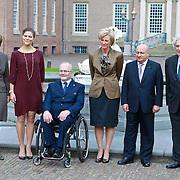 NLD/Apeldoorn/20110913 - Prinses Margriet ontvangt erebestuur Internationaal Paralympisch Comite, Prinses Margriet, Prinses Victoria van Zweden, dhr. J. Wolfensohn, Prinses Astrid van Belgie, dhr, Hassan Ali bin Ai, Sir philip Craven