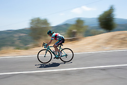 Simona Bortolotti (ITA) of Giusfredi Bianchi Cycling Team descends on Stage 8 of the Giro Rosa - a 141.8 km road race, between Baronissi and Centola fraz. Palinuro on July 7, 2017, in Salerno, Italy. (Photo by Balint Hamvas/Velofocus.com)