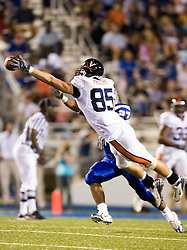 "Virginia tight end John M. Phillips (85) reaches out for a pass.  ..The Virginia Cavaliers football team defeated Middle Tennessee State Blue Raiders 23-21 at Johnny ""Red"" Floyd Stadium  in Murfreesboro, TN on October 6, 2007."