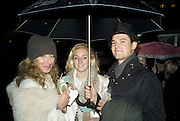 KELLY HOPPEN, NATASHA CORRET AND RORY MACKAY, Winter party hosted by the Somerset House Trust and Tiffany's. To celebrate the opening of the Ice Rink at Somerset House. 20 November 2007. -DO NOT ARCHIVE-© Copyright Photograph by Dafydd Jones. 248 Clapham Rd. London SW9 0PZ. Tel 0207 820 0771. www.dafjones.com.