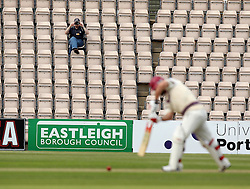 A spectator takes a picture whole Somerset's Jim Allenby bats - Photo mandatory by-line: Robbie Stephenson/JMP - Mobile: 07966 386802 - 21/06/2015 - SPORT - Cricket - Southampton - The Ageas Bowl - Hampshire v Somerset - County Championship Division One