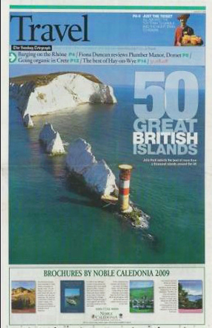 The Daily Telegraph, The Needles, Isle of Wight, photograph by Patrick Eden Photography