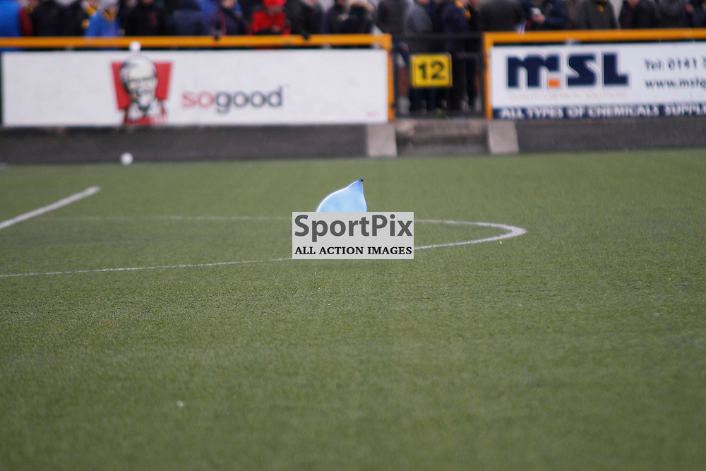 Cowdenbeath FC V Alloa Athletic, Scottish Championship,2 May 2015Cowdenbeath FC V Alloa Athletic, Scottish Championship,2 May 2015<br /> <br /> THE HIGHLIGHT FOR THE COWDENBEATH FANS WAS A BALLOON ON THE PARK TO WHICH THE CROWD SHOUTED THERE'S ENOUGH BALLOONS ALREADY