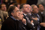 Sergio Marchionne, Managing Director of Fiat, follow the quotation of Fiat's two new divisions - Fiat Industrial and Fiat - at First Quotation Cerimony at Italian Stock Exchange, in Milan, Jan 3, 2011. © Carlo Cerchioli