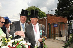 Left to right, brothers LORD CHARLES SPENCER-CHURCHILL and the DUKE OF MARLBOROUGH at the 1st day of the 2008 Royal Ascot racing festival on 17th June 2008.<br />